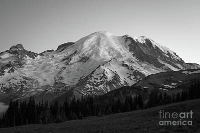 Basketball Patents - Mount Rainier BW  by Michael Ver Sprill