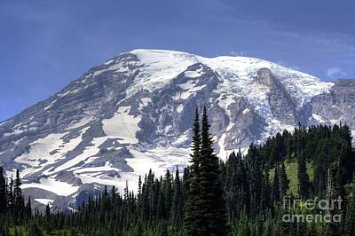 Photograph - Mount Rainier by Chris Anderson