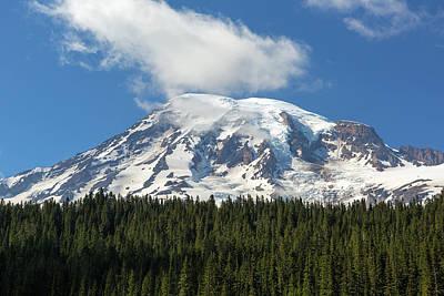 Photograph - Mount Rainier Closeup by David Gn