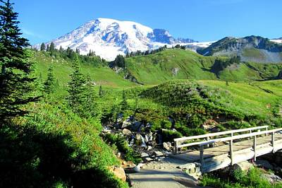 Photograph - Mount Rainier From Myrtle Creek by Karen Molenaar Terrell