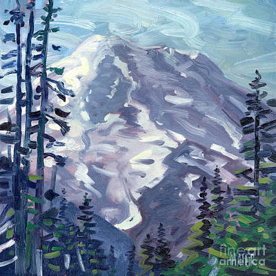 Mount Rainier From Sunrise Point Art Print