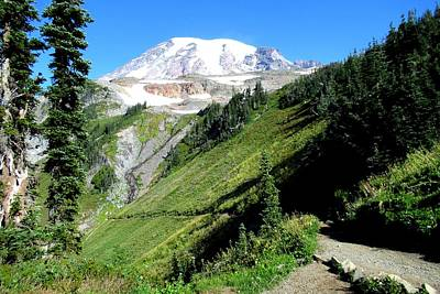 Photograph - Mount Rainier From The Panorama Point Trail by Karen Molenaar Terrell
