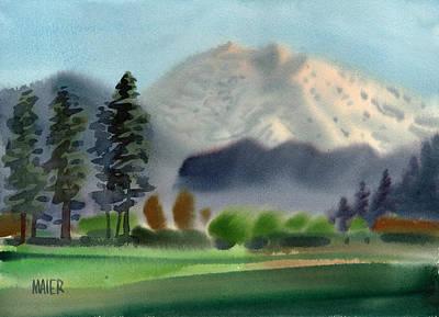 Mount Rainier In Evening Art Print by Donald Maier