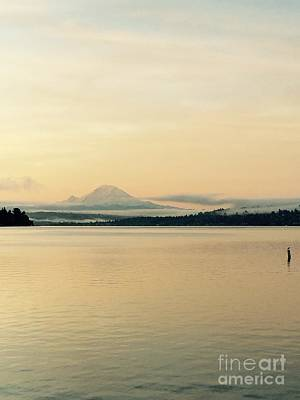 Photograph - Mount Rainier In The Morning by LeLa Becker