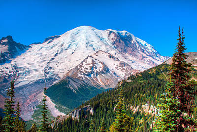 Photograph - Mount Rainier Iv by David Patterson