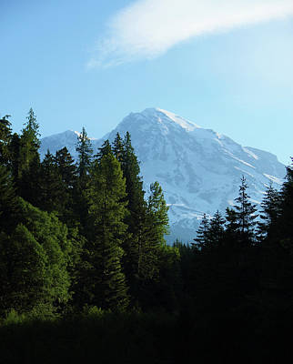Photograph - Mount Rainier Morning by Marie Leslie
