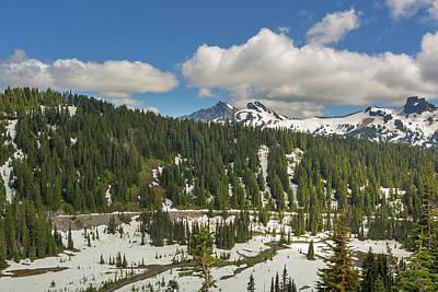 Photograph - Mount Rainier National Park Tatoosh Range by David Gn