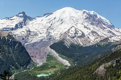 Photograph - Mount Rainier On The Sunrise Side by Belinda Greb
