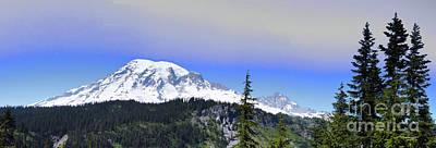 Photograph - Mount Rainier Panorama by Scott Cameron