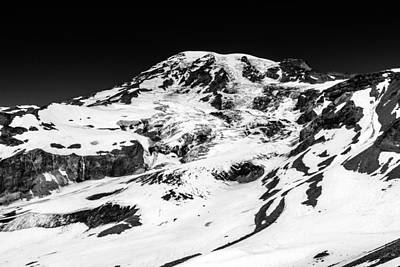 Photograph - Mount Rainier Peak Black And White by Pierre Leclerc Photography