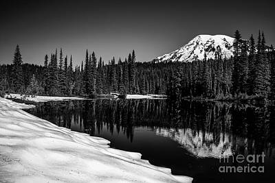Photograph - Mount Rainier Reflection by DS Dodd