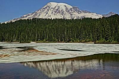Mount Rainier Reflection Lake Art Print by Dan Sproul
