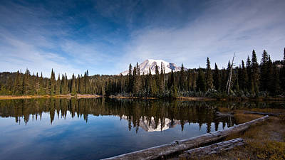 Clarity Photograph - Mount Rainier Reflection by Mike Reid