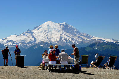 Mount Rainier Seen From Crystal Mountain Summit  7 Art Print by Tanya  Searcy
