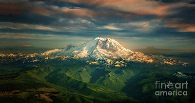 Photograph - Mount Rainier by TK Goforth