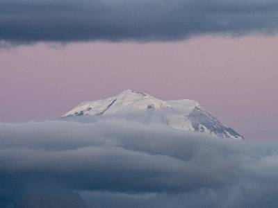Photograph - Mount Rainier Under A Lavender Sky by Jacklyn Duryea Fraizer