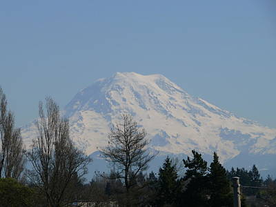 Photograph - Mount Rainier by John Bushnell