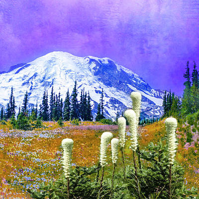 Digital Art - Mount Rainier, Washington by Jeff Burgess