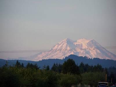 Mount Rainier Washington  Art Print by Laurie Kidd
