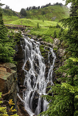 Photograph - Mount Rainier's Myrtle Falls by Pierre Leclerc Photography