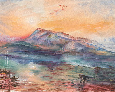 Painting - Mount Rigi Switzerland Lake by Irina Sztukowski