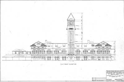 Drawing - Mount Royal Station by Baltimore and Ohio Railroad