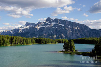Photograph - Mount Rundle Cascade Ponds Banff Canada 1 by Bob Christopher