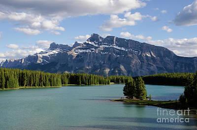 Photograph - Mount Rundle Cascade Ponds Banff Canada 1 by Bob Christopher