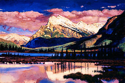 Banff Painting - Mount Rundle by David Lloyd Glover