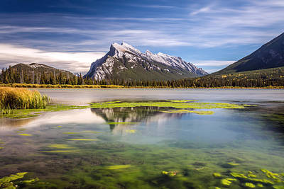 Photograph - Mount Rundle From Second Vermilion Lake by Pierre Leclerc Photography