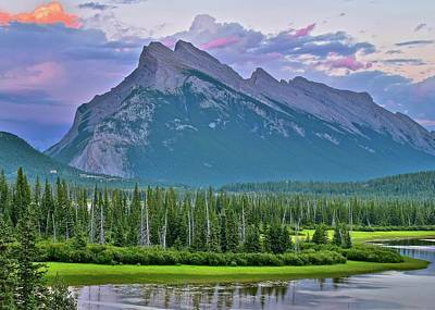 Photograph - Mount Rundle by Frozen in Time Fine Art Photography