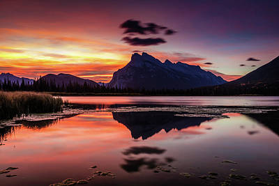 Photograph - Mount Rundle Glorious Sunrise by Pierre Leclerc Photography