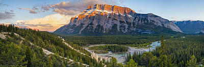 Mount Rundle Panorama Print by Tomas Nevesely