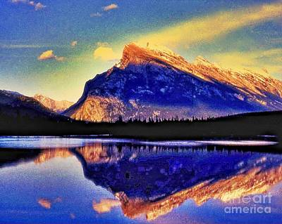 Mount Rundle Reflection Art Print by Lyle  Huisken