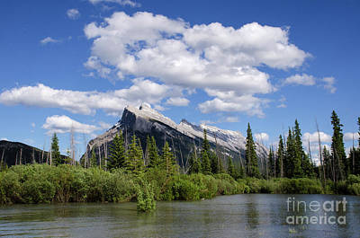Photograph - Mount Rundle Vermillion Lakes Banff Canada 1 by Bob Christopher