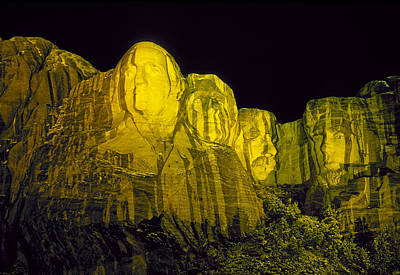Mount Rushmore Photograph - Mount Rushmore After An Evening Rain Storm by Buddy Mays