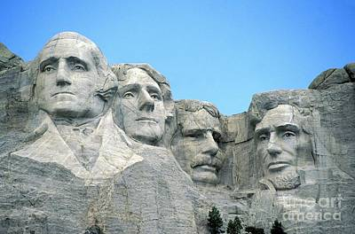 George Washington Photograph - Mount Rushmore by American School