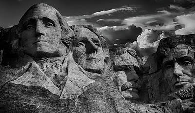 Photograph - Mount Rushmore At Sunset by Pete Linforth