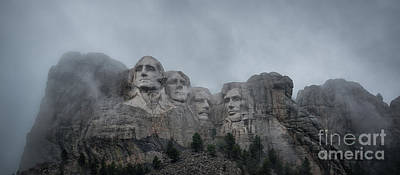 Politicians Royalty-Free and Rights-Managed Images - Mount Rushmore Break In The Clouds Pano by Michael Ver Sprill