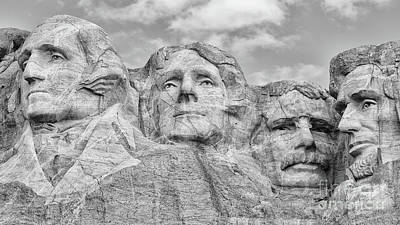 Photograph - Mount Rushmore Bw by Jerry Fornarotto