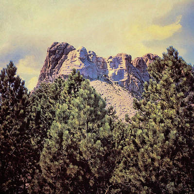 Photograph - Mount Rushmore Circa 1970 by JAMART Photography