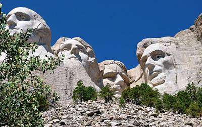 Mount Rushmore Close Up View Art Print