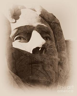Photograph - Mount Rushmore Faces Jefferson by Barbara Henry