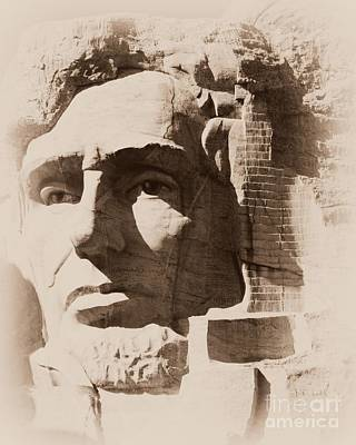 Photograph - Mount Rushmore Faces Lincoln by Barbara Henry