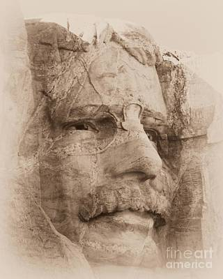 Photograph - Mount Rushmore Faces Roosevelt by Barbara Henry