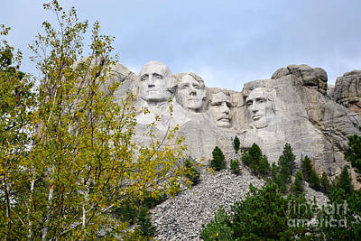 Photograph - Mount Rushmore National Memorial by Kathy M Krause