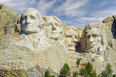 Photograph - Mount Rushmore National Memorial South Dakota  -  Mtrush001 by Frank J Benz