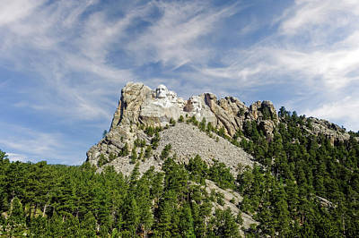 Photograph - Mount Rushmore National Memorial South Dakota  -  Mtrush002 by Frank J Benz