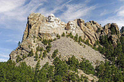 Photograph - Mount Rushmore National Memorial South Dakota  -  Mtrush003 by Frank J Benz