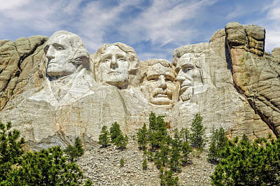 Photograph - Mount Rushmore National Memorial South Dakota  -  Mtrush005 by Frank J Benz